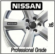 NISSAN LOGO (3) CAR WHEEL DECALS